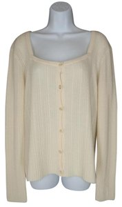 St. John Cashmere Cable Knit Soft Cardigan