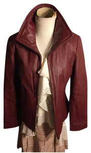 Kenneth Cole Deep Rich Burgundy Leather Jacket