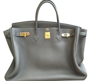Hermès New Hr.k0824.01 Tan Togo Leather Satchel in Taupe