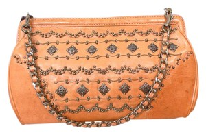 Isabella Fiore Evening Leather Studded Clutch