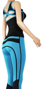 UPHILL FASHION TURQUOISE WOMEN SPORT TRACKSUIT CASUAL YOGA WORKOUT FITNESS STRETCH