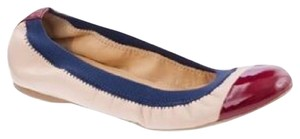 J.Crew Blue, Cream, Red Flats