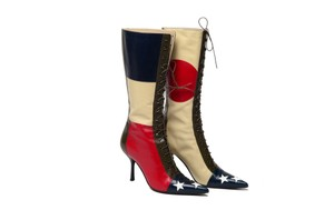 Moschino Leather Vintage Multicolor Boots