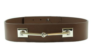 Gucci NWT GUCCI 363024 Leather Horsebit Waist Belt, Brown 80-32 DISPLAY