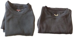 Faded Glory & Hanes Thermal Thermal Underwear Long Sleeve Waffle Knit Sweater