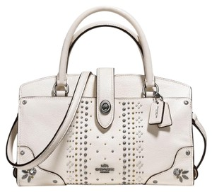 Coach Satchel in Chalk/Dark Gunmetal