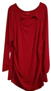 Lane Bryant Plus-size Spring Stretchy Fall Top Cherry Red