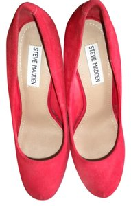 Steve Madden Stiletto Suede Leather red Pumps