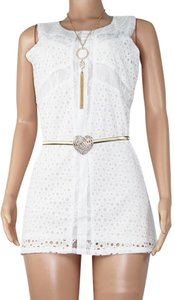 UPHILL FASHION short dress WHITE on Tradesy