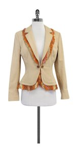 St. John Tan Orange Cotton Jacket
