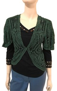 Diane von furstenberg over top top Top green