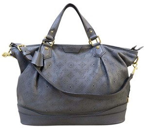 Louis Vuitton Lv Mahina Stellar Gm Calfskin Satchel in slategray
