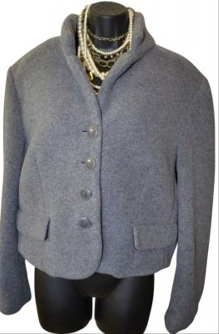 Preload https://item4.tradesy.com/images/express-grey-button-down-wool-blazer-size-12-l-20668-0-0.jpg?width=400&height=650