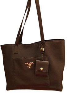 Prada Leather Black Tote