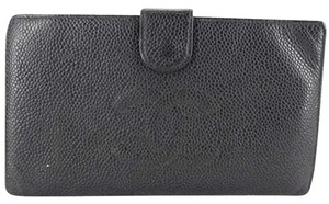 Chanel Caviar CC Black Wallet Clutch CCTL05