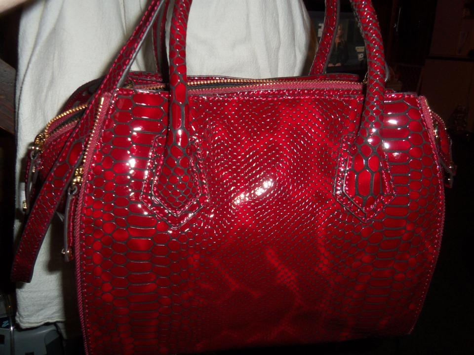 cf44a6a8e219 Rebecca Minkoff Embossed Python Mini Perry Bordeaux Eel Skin Leather ...