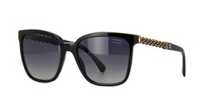 Chanel Black Box Chain Sunglasses