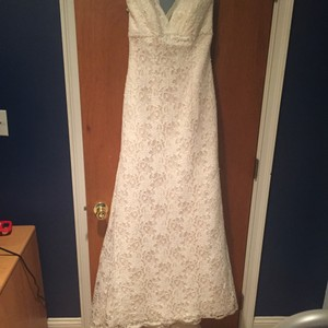 David's Bridal All Over Beaded Lace Trumpet Wedding Dress T9612 Wedding Dress