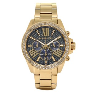 Michael Kors Wren Chronograph Blue Crystal Pave Gold-tone Ladies Watch MK6291