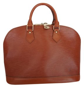 Louis Vuitton Alma Mm Handbag Designer Satchel in Terracotta Brown