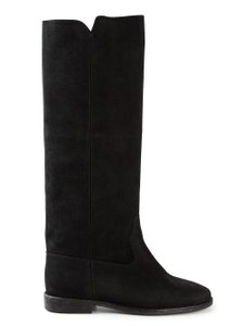 Isabel Marant Cleave Suede Knee Black Boots