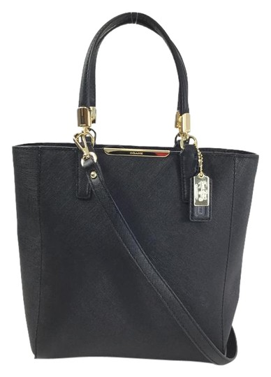 Preload https://item3.tradesy.com/images/coach-madison-mini-north-south-black-crossgrain-leather-tote-2066862-0-2.jpg?width=440&height=440