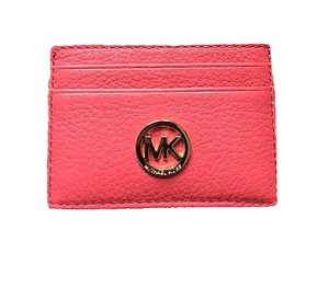 Michael Kors Michael Kors Fulton Leather Card Holder in Watermelon