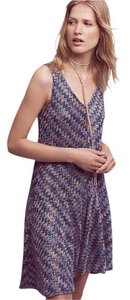 Anthropologie short dress Blue Motif on Tradesy