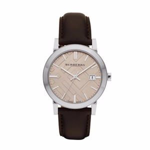 Burberry Men's The City Swiss Brown Leather 38mm Watch BU9011