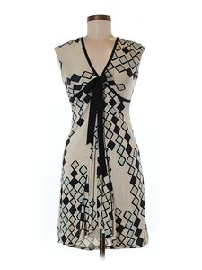 Eva Franco Silk Diamond Print Dress