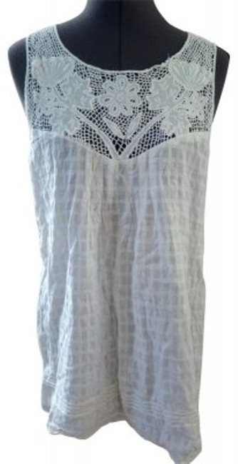 Preload https://item5.tradesy.com/images/forever-21-white-with-lace-trim-tunic-size-8-m-20669-0-0.jpg?width=400&height=650