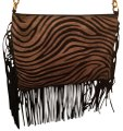 Borse in Pelle Fringed Cross Body Bag