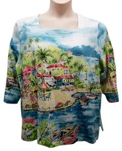 Alfred Dunner T Shirt Multi-Color