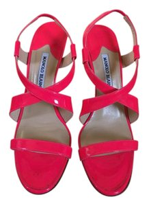 Manolo Blahnik Hot Pink Sandals