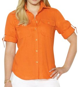 Ralph Lauren Button Down Shirt Arena Orange