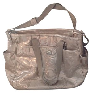 Coach Silver/grey Diaper Bag