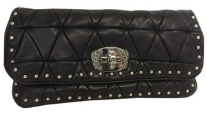 Miu Miu Rhinestone Crystal Studded Black Clutch