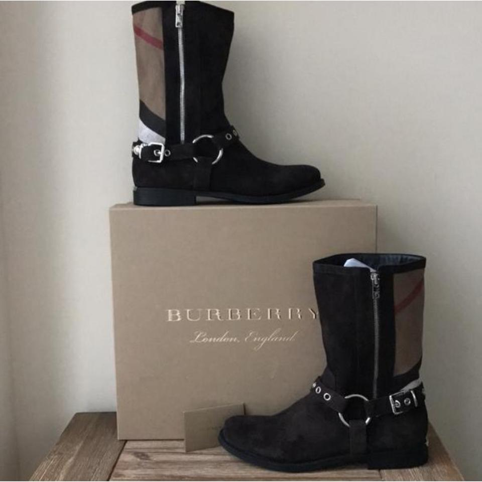 New Boots Burberry Beige Black Booties Brown White WzvIg0