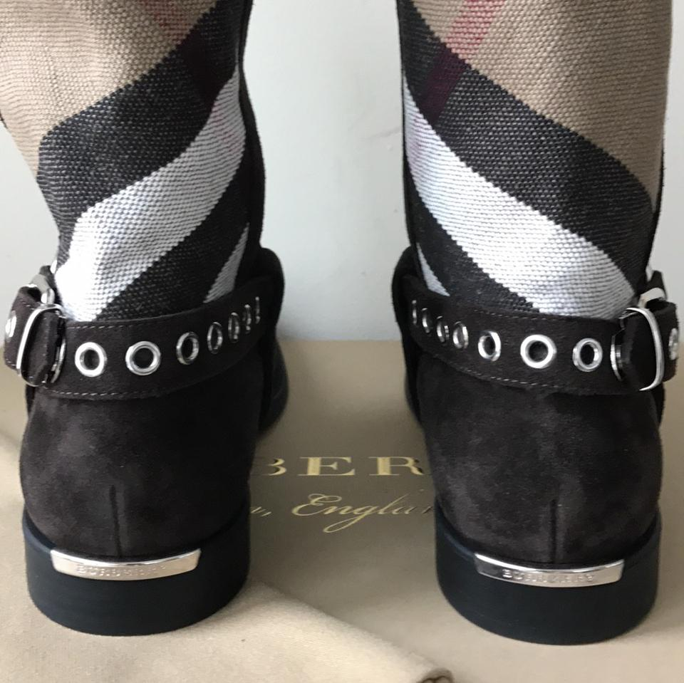 Black Burberry Beige White Brown Boots New Booties 15q5Orw7