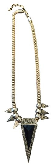 Nordstrom Gold Spike Statement Necklace
