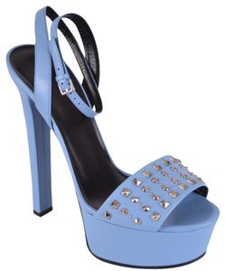 Gucci Sandals Studded blue Platforms