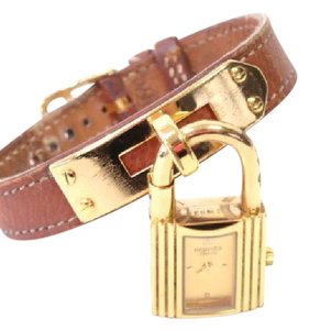 Hermès HERMES Kelly Watch Ladies Wristwatch Brown Leather Gold
