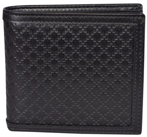 Gucci Gucci Men's 237359 Black Leather Diamante Bifold Wallet W/Coin Pocket