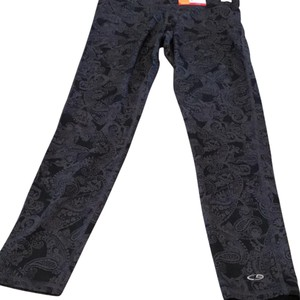 Champion P9719 Regular length Full exercise leggings Paisley grey pattern BLK