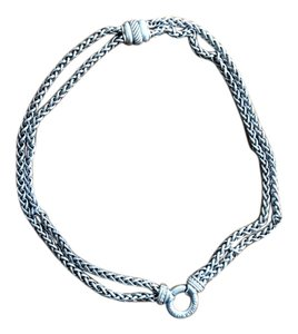 David Yurman David Yurman Thick Double Strand Necklace With Diamond