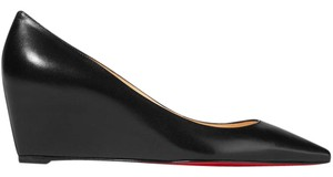 Christian Louboutin Louboutin Pump Leather Pipina black Wedges