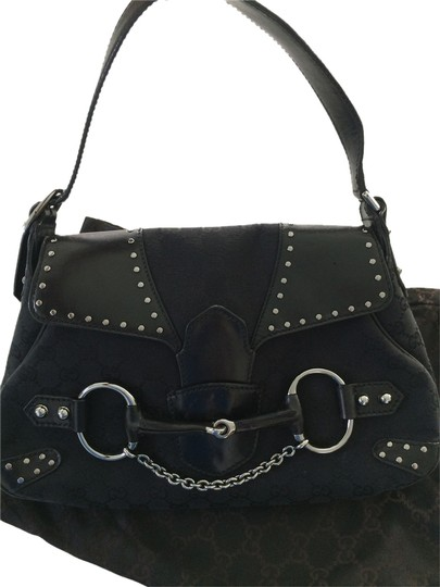 Preload https://item3.tradesy.com/images/gucci-horsebit-black-leather-canvas-shoulder-bag-2067042-0-0.jpg?width=440&height=440