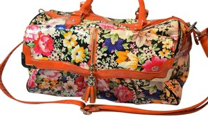 Nicole Lee Duffel Overnighter Carry On Floral Travel Bag