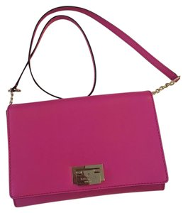 Kate Spade Pink Leather Structured Cross Body Bag