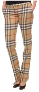 Burberry Straight Pants Nova Classic Nova Check Print Plaid